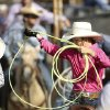 A girl gets her rope ready before entering the arena to compete during the morning go-round at the IFYR rodeo on Thursday, July 11, 2013. July 10, 2013. Photo by Jim Beckel, The Oklahoman.