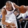 Photo - OKLAHOMA CITY THUNDER / NBA BASKETBALL: Oklahoma City's Russell Westbrook gets a turnover and heads up the court during the first half of their game against Sacramento at the Ford Center in Oklahoma City on Sunday, Feb. 8, 2009. By John Clanton, The Oklahoman ORG XMIT: KOD