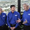 Saturday, Feb. 16, 2008 -- Daytona Beach, Fla. -- AUTO RACING: NASCAR on ESPN with lead announcer Dr. Jerry Punch (l) and analysts Andy Petree and Dale Jarrett ORG XMIT: 0907232143329344