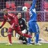 Photo - Toronto FC 's Robert Earnshaw, left, turns to celebrate after scoring the game's opening goal as Montreal Impact goalkeeper Troy Perkins, center, and Herman Bernadello look on during the first half of an MLS soccer game in Toronto on Saturday, Oct. 26, 2013. (AP Photo/The Canadian Press, Chris Young)