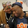 Khari Harding talks to his grandmother, Mary Harding, after the signing day ceremony at Edmond Santa Fe High School in Edmond, Okla., Wednesday, Feb. 6, 2013. Harding will play football at Auburn. Photo by Nate Billings, The Oklahoman
