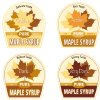 "In this graphic by Cedarlane Studio of Spencerville, Ontario, proposed new labels for maple syrup are shown. Vermonters have grown accustomed to their ""fancy"" ""amber"" and ""grade B"" types of maple syrup but new consumers may not be so sweet on the terms. So the country's largest producer of the pancake topping is thinking of doing away with those terms and adopting new international names with flavor descriptions to help consumers delineate between four different colored and flavored syrups and to match new worldwide terms. The four classifications would be golden color, delicate taste; amber color, rich taste; dark color, robust taste; and very dark color, strong taste. (AP Photo/Cedarlane Studio of Spencerville, Ontario)"