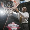 Missouri coach Mike Anderson cuts down the net after the Tigers defeated Baylor in the Championship game of the Big 12 Men\'s Basketball Championships between Baylor University and The University of Missouri at the Ford Center on Saturday, March 14, 2009, in Oklahoma City, Okla. PHOTO BY CHRIS LANDSBERGER, THE OKLAHOMAN