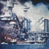Photo - FILE - In this U.S. Navy file photo, a small boat rescues a USS West Virginia crew member from the water after the Japanese bombing of Pearl Harbor, Hawaii on Dec. 7, 1941 during World War II. Two men can be seen on the superstructure, upper center. The mast of the USS Tennessee is beyond the burning West Virginia. On Dec. 7, 1941, Japanese Imperial Navy navigator Takeshi Maeda guided his Kate bomber to Pearl Harbor and fired a torpedo that helped sink the USS West Virginia. President Barack Obama on Thursday Dec. 6, 2012 issued a proclamation declaring Dec. 7 a day of remembrance in honor of the 2,400 Americans who died at Pearl Harbor. He urged federal agencies, organizations and others to fly their flags at half-staff. (AP Photo, File)
