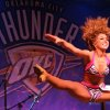 Megan dances during auditions for the OKC Thunder dance team, at Toby Keith\'s I Love this Bar and Grill, in Oklahoma City, Thursday, Sept. 11, 2008 BY MATT STRASEN, THE OKLAHOMAN.