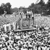 Photo -   FILE - In this Friday, Aug. 14, 1936 file picture, a large crowd watches as attendants adjust a black hood over Rainey Bethea's head just before his public hanging in Owensboro, Ky. Bethea, a 22-year-old black man convicted of raping a 70-year-old white woman, was the last person killed in a public execution in the United States. America's executions have changed dramatically over the years, morphing from day-long events in the town square to somber and tightly controlled affairs held deep inside prisons. (AP File Photo)