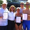PADI Instructor Exam participants Gregg Starkel, Course Director Lea Ann Hughes, Connie Cooper, Examiner Gary Newman, Patrick Wright. The new PADI Instructors are displaying their IE Certificates of Completion. Community Photo By: Alan Hughes Submitted By: alan, norman
