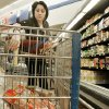Photo - GROCERY STORE / SHOP / SHOPPING / SHOPPER: Reporter Vallery Brown shops for groceries at Crest on 23rd and Meridian Wed. Jan 28th, 2009 in OKC. BY JACONNA AGUIRRE, THE OKLAHOMAN.  ORG XMIT: KOD