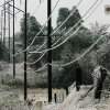 WINTER / COLD / WEATHER / ICE STORM: Power lines covered in ice. SE 15 and Henney. Ice storm in eastern Oklahoma County, Monday morning, Dec. 10, 2007. By Jim Beckel, The Oklahoman. ORG XMIT: KOD