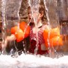 My granddaughter, Jillian, cooling off under the pool\'s waterfall. Community Photo By: Jay Brannon Submitted By: Jay, Edmond