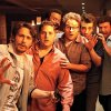 Photo -  This Is The End (2013) L-r, James Franco, Jonah Hill, Craig Robinson, Seth Rogen, Jay Baruchel and Danny McBride