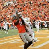OSU\'s Justin Blackmon (81) catches a pass for a touchdown as Joe Williams (22) of Baylor defends in the third quarter during a college football game between the Oklahoma State University Cowboys (OSU) and the Baylor University Bears (BU) at Boone Pickens Stadium in Stillwater, Okla., Saturday, Oct. 29, 2011. OSU won, 59-24. Photo by Nate Billings, The Oklahoman