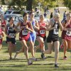 Girls pass an early section of their course during the class 3A girls State cross country meet at Gordon Cooper Vo-Tech in Shawnee, OK, Saturday, October 20, 2012. By Paul Hellstern, The Oklahoman