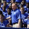 Bob Stoops' younger brother, Mark, is now coaching Kentucky. That hasn't slowed Bob Stoops' anti-SEC comments. AP PHOTO
