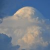 An Oklahoma cloud formation resembling the profile of a Golden Retriever - Photo by Ruthann Lach