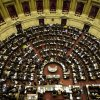 Lawmakers gather in the Lower House of Congress to debate the YPF bill on the expropriation of the oil company in Buenos Aires, Argentina, Wednesday, May 2, 2012. President Cristina Fernandez, who pushed forward a bill to renationalize the country\'s largest oil company, said the legislation put to congress would give Argentina a majority stake in oil and gas company YPF by taking control of 51 percent of its shares currently held by Spain\'s Repsol. (AP Photo/Natacha Pisarenko)