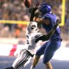 Photo -   Brigham Young's Jordan Johnson (6) breaks up a play against Boise State's Cody Hoffman (2) during the first half of an NCAA college football game Thursday, Sept. 20, 2012 in Boise, Idaho. (AP Photo/Matt Cilley)