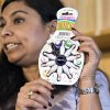 Photo -   Nasima Hossain, a U.S. Public Interest Research Group (PIRG) advocate, holds a miniature bowling set, that poses a choking hazard, during a PIRG news conference in Washington, Tuesday, Nov. 20, 2012, to release its 27th annual Trouble in Toyland report on hazardous toys. (AP Photo/J. Scott Applewhite)