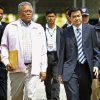 Photo - FILE - In this May 2, 2010 file photo, Thai Prime Minister Abhisit Vejjajiva, right, walks with Deputy Premier Suthep Thaugsuban, left, to attend a special Cabinet meeting in Bangkok, Thailand. Thai law enforcement authorities announced Thursday, Dec. 6, 2012, that they will file murder charges against Abhisit and his deputy in the first prosecutions of officials for their roles in a deadly 2010 crackdown on anti-government protests.  (AP Photo/Wong Maye-E, File)