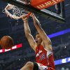 L.A. CLIPPERS: Los Angeles Clippers\' Blake Griffin dunks during the first quarter against the Chicago Bulls in an NBA basketball game in Chicago on Saturday Dec. 18, 2010. (AP Photo/Charles Cherney) ORG XMIT: CXA203
