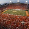 Photo - OVERVIEW / CROWD: Cowboy fans fill Boone Pickens Stadium during the first half of the college football game between the Oklahoma State University Cowboys (OSU) and the Texas A&M University Aggies (TAM) at Boone Pickens Stadium on Saturday, Oct. 4, 2008, in Stillwater, Okla.  CHRIS LANDSBERGER, THE OKLAHOMAN  ORG XMIT: KOD
