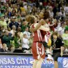OU\'s Danielle Robinson and Joanna McFarland, left, celebrate as Notre Dame coach Muffet McGraw walks to half court after the Sweet 16 round of the NCAA women\'s basketball tournament in Kansas City, Mo., on Sunday, March 28, 2010. Photo by Bryan Terry, The Oklahoman
