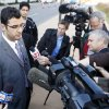 Muneer Awad, executive director of Council on American-Islamic Relations in Oklahoma, talks to media outside Federal Courthouse after U.S. Judge Vicki Miles-LaGrange handed down a temporary restraining order to block a state constitutional amendment that prohibits state courts from considering international or Islamic law when making rulings in Oklahoma. Oklahoma City, November 8 , 2010. Photo by Steve Gooch, The Oklahoman ORG XMIT: KOD ORG XMIT: OKC1011081242083620