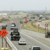 Motorists drive south on I-35 between Indian Hills Road and Franklin in Norman, Oklahoma March 23, 2009. The U.S. 77 exit will be closed for construction beginning April 1st. BY STEVE GOOCH, THE OKLAHOMAN