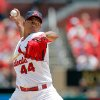 Photo - St. Louis Cardinals starting pitcher Carlos Martinez throws during the first inning of a baseball game against the Philadelphia Phillies, Sunday, June 22, 2014, in St. Louis. (AP Photo/Scott Kane)
