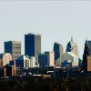 Oklahoma City downtown skyline as seen from Integris Baptist Hospital Wednesday, Dec. 2, 2009. Photo by Jim Beckel, The Oklahoman ORG XMIT: KOD