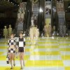 Models wear creations by fashion designer Marc Jacobs for Louis Vuitton\'s ready to wear Spring-Summer 2013 collection presented in Paris, Wednesday, Oct. 3, 2012. (AP Photo/Jacques Brinon)