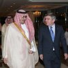 "Photo - This image released by the Saudi Press Agency shows Prince Nawaf Faisal Fahd bin Abdul-Aziz, an International Olympic Committee member and president of the national Olympic committee, left, walking with IOC President Thomas Bach, right, in Riyadh, Saudi Arabia, Wednesday, April 2, 2014. IOC President Thomas Bach has discussed the issue of women's participation in sports with Saudi Arabia's Olympic chief. The IOC says Wednesday that Bach promised ""full support"" for the country's sports development strategy through 2020. The plan includes ""proposals to increase women's participation in the Olympic Games and in sport in general."" Saudi women are largely banned from participating in sports in the kingdom, although there are several football and basketball clubs that play in clandestine leagues. After prolonged negotiations with the IOC, Saudi Arabia sent women to the Olympics for the first time in 2012, with two female athletes competing at the London Games. (AP Photo/Saudi Press Agency)"