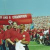 Sterling Shepard (in No. 3 jersey) at a Sept. 23, 2000, game against Rice during which the 1985 Oklahoma championship team was honored. Sterling\'s father, Derrick Shepard, played on the 1985 team. PHOTO PROVIDED