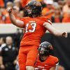QUINN SHARP Position: Kicker/punter    Size: 6-1, 205 Where he will impress: Sharp will get to show off his ability to produce on punts, field goals or kickoffs -- or all three. That versatility has to be enticing to NFL teams, as every roster spot is crucial. Where he will underwhelm: Though effective, some of his technique is a bit unorthodox. What he can gain at combine: A strong performance at the combine could be the difference between Sharp getting drafted or needing to go the free agent route. Current draft projection: Late rounds/free agent ANALYSIS BY GINA MIZELL, Staff Writer PHOTO BY NATE BILLINGS, The Oklahoman