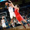 With 0.7 left on the clock for the first half, Oklahoma City\'s Westbrook is fouled by Houston\'s Luis Scola during their NBA basketball game at the OKC Arena in downtown Oklahoma City on Wednesday, Nov. 17, 2010. Photo by John Clanton, The Oklahoman