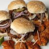 Photo - Pulled pork sliders and Mr. Cluck's Chicken Shack bites will work for your