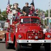 Photo - Veterans from VFW Post 4890 in Norman and others representing Veterans Corner in Goldsby ride Saturday during the annual '89er Day parade in downtown Norman. Photos by Jim Beckel, The Oklahoman