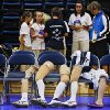 Prosthetics sit against chairs as the USA women take on Japan during the 2010 World Championships of Sitting Volleyball at the University of Central Oklahoma on Monday, July 12, 2010, in Edmond, Okla. Photo by Chris Landsberger, The Oklahoman