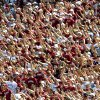 NORMAN, OK, SATURDAY, SEPTEMBER 4, 2004. UNIVERSITY OF OKLAHOMA SOONERS VS BOWLING GREEN AT THE GAYLORD FAMILY - OKLAHOMA MEMORIAL STADIUM IN NORMAN, OK. COLLEGE FOOTBALL, FAN, CROWD. OU fans pack the stadium against Bowling Green Saturday in Norman. Oklahoman photo by Ty Russell.