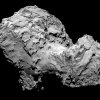 Photo - In this picture taken on Aug. 3, 2014 by Rosetta's OSIRIS narrow-angle camera Comet 67P/Churyumov-Gerasimenko is pictured from a distance of 285 kms. A mission to land the first space probe on a comet reaches a major milestone when the unmanned Rosetta spacecraft finally catches up with its quarry on Wednesday Aug 6, 2014. It's a hotly anticipated rendezvous: Rosetta flew into space more than a decade ago and had to perform a series of complex maneuvers to gain enough speed to chase down the comet on its orbit around the sun. The image resolution is 5.3 metres/pixel. (AP Photo/ESA/Rosetta/MPS for OSIRIS Team )