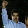 Venezuela\'s Vice-President Nicolas Maduro gestures as he arrives for the 8th anniversary of the ALBA group in Caracas, Venezuela, Saturday, Dec. 15, 2012. President Hugo Chavez has been receiving daily visits from former Cuban leader Fidel Castro while recovering from cancer surgery in Cuba, a Venezuelan government official said Saturday night. (AP Photo/Fernando Llano)