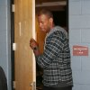 Brooklyn Nets center Jason Collins leaves a dressing room where he met with the parents of Matthew Shepard, who was killed as part of an anti-gay hate crime in Laramie, Wyo., in 1998, after the Nets\' 112-89 victory over the Denver Nuggets in an NBA basketball game in Denver on Thursday, Feb. 27, 2014. (AP Photo/David Zalubowski)