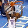 Oklahoma City\'s Kevin Durant (35) dunks during Game 6 of the Western Conference Finals in the NBA playoffs between the Oklahoma City Thunder and the San Antonio Spurs at Chesapeake Energy Arena in Oklahoma City, Saturday, May 31, 2014. Photo by Nate Billings, The Oklahoman