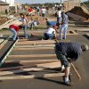 Members of Christ the King Catholic Church volunteered their labor in building this Habitat for Humanity house in the Hope Crossing neighborhood near Britton and Kelley Avenue on Saturday, Sep. 22, 2012. The parish has donated $80,000 toward a new central Oklahoma Habitat for Humanity Home to celebrate the church\'s 50th anniversary in their current building in Nichols Hills. This home is being built in the 600 block of NE 85th Street. Photo by Jim Beckel, The Oklahoman.