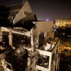 A damaged residential building is seen after it was hit by a rocket fired by militants from the Gaza Strip, in the Israeli central city of Rishon Lezion, near Tel Aviv, Tuesday, Nov. 20, 2012. A diplomatic push to end Israel\'s nearly weeklong offensive in the Gaza Strip gained momentum Tuesday, with Egypt\'s president predicting that airstrikes would end within hours and Israel\'s prime minister saying his country would be a