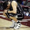 McGuinness\'s Ryan Randolph (21) reacts the Irish\'s loss to Star Spencer in boys 4A final between Star Spencer and Bishop McGuinness at the Lloyd Noble Center, Saturday, March 14, 2009, in Norman, Okla. PHOTO BY SARAH PHIPPS, THE OKLAHOMAN