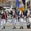 An honor guard in Revolutionary War costumes carry the colors in the annual Saint Patrick\'s Day Parade in downtown Oklahoma City, OK, Saturday, March 16, 2013, By Paul Hellstern, The Oklahoman