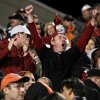 Fans celebrate a Sooner win following the Bedlam college football game between the University of Oklahoma Sooners (OU) and the Oklahoma State University Cowboys (OSU) at Boone Pickens Stadium in Stillwater, Okla., Saturday, Nov. 27, 2010. Photo by Sarah Phipps, The Oklahoman