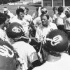 1982: Switzer and the troops In this photo from early August 1982, Switzer addresses the newest Sooners prior to the start of practice. PHOTO BY BOB ALBRIGHT, The Oklahoman Archives
