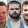 This combination of undated photos provided by the Dane County, Wis., Sheriff\'s Office shows, from left: Matthew Graville; Robert McCumber and Jeffrey Vogelsberg, right. Prosecutors have accused Vogelsberg of beating and torturing to death his autistic half-brother, Graville, in the bathroom of the house he shared with McCumber in Mazomanie, Wis. McCumber is charged with helping bury Graville\'s body. Vogelsberg faces an extradition hearing in Washington state on Thursday, Dec. 6, 2012 on a homicide charge. (AP Photo/Dane County Sheriff\'s Office)